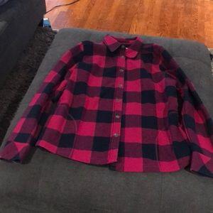 Orvis Buffalo plaid fleece lined flannel